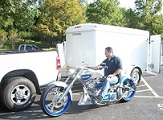 Motorcycle in Trailer Shipping